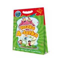 Teczka 4-latka. Zestaw edukacyjny dla przedszkolaka |Książka dzieci |Edukacja