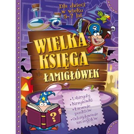 Wielka Księga Łamigłówek |Książka dzieci |Edukacja