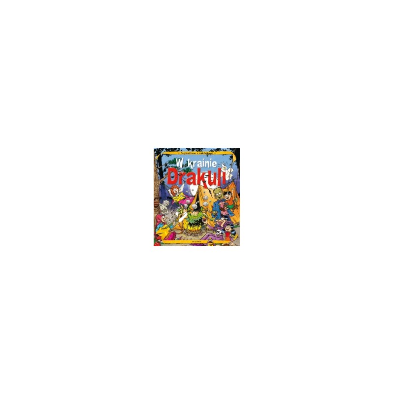 Album z naklejkami- W krainie Drakuli |Książka dla dzieci |Edukacja