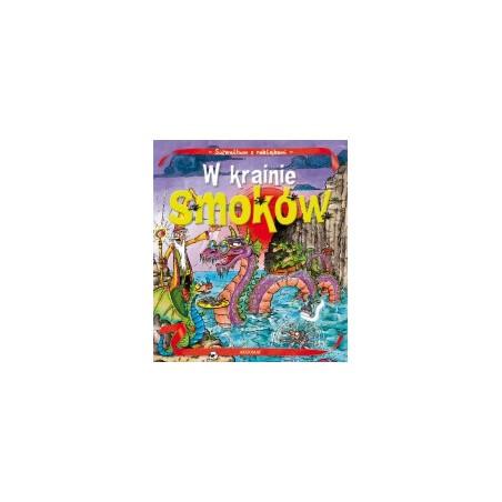 Album z naklejkami - W krainie smoków |Książka dla dzieci |Edukacja